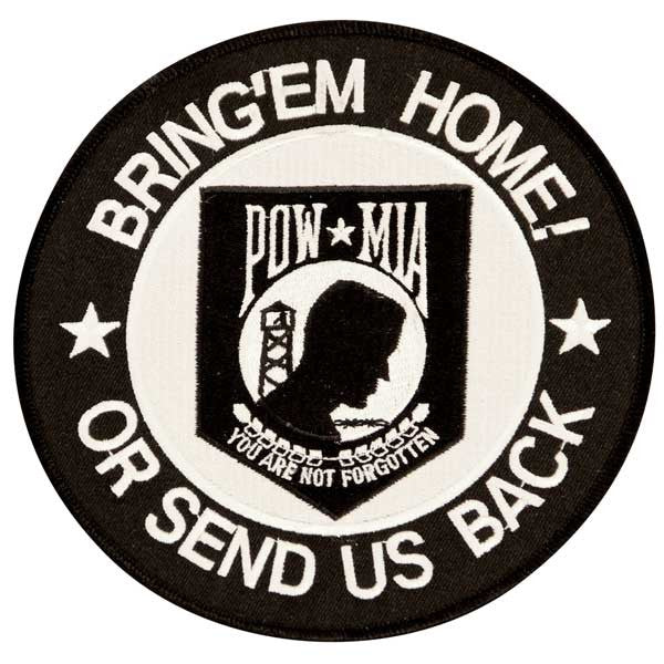 POW Bring 'Em Home or Send Us Back Large Circle Patch - Star Spangled 1776