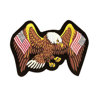 United States Flag Eagle 4X6 Inch Embroidered Patch - Star Spangled 1776