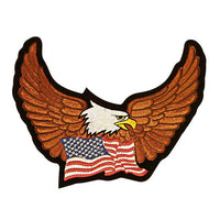 Eagle Spreading Wings with United States Flag below Medium Size Patch - Star Spangled 1776