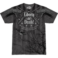 Liberty or Death T-Shirt- 7.62 Design Grey Graphic Military T-Shirt - Star Spangled LLC