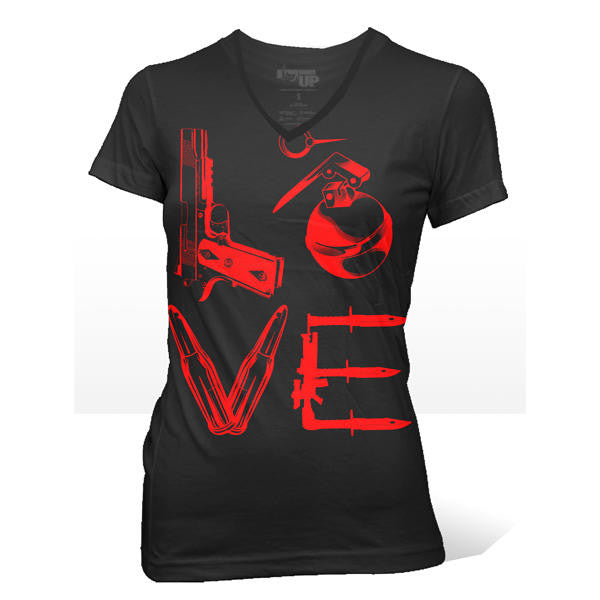 Women's Love T-Shirt- Ranger Up Black Form Fitted Women's Tee - Star Spangled 1776