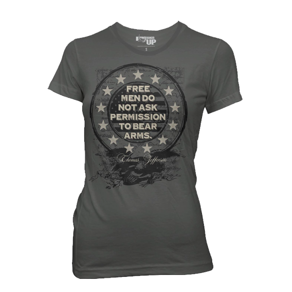 Women's Free Men Don't Ask Permission T-Shirt- Ranger Up Tee - Star Spangled 1776