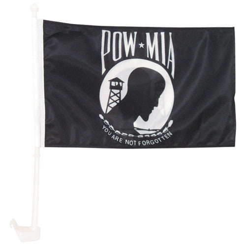 POW MIA Deluxe Military Car Window Flag - Star Spangled 1776