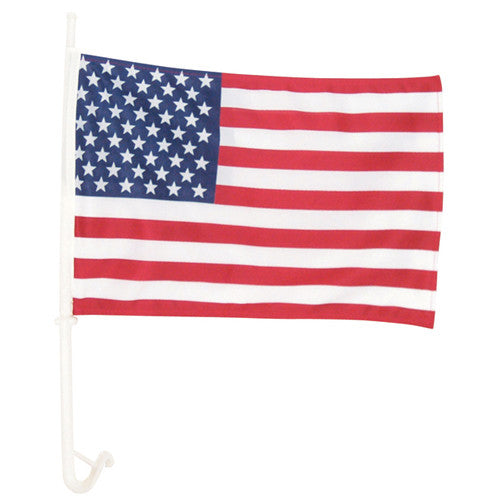 USA Deluxe Car Window Flag - Star Spangled 1776