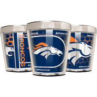 Denver Broncos 2oz Acrylic/Stainless Steel Shot Glass w/ Metallic Graphics