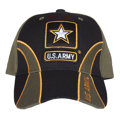 Army OD/Black Guard Embroidered Military Ball Cap - Star Spangled 1776