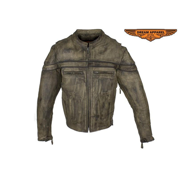 Brown Leather Concealed Carry Jacket