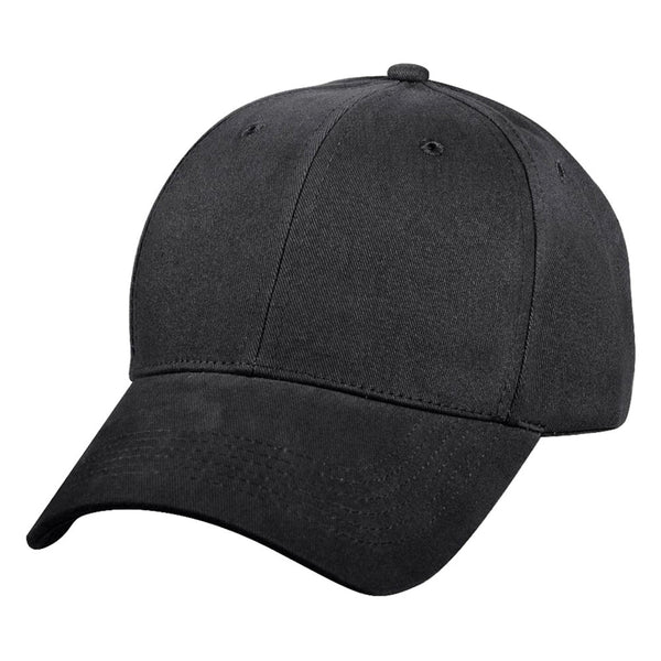 Black Supreme Solid Color Low Profile Baseball Cap - Star Spangled 1776