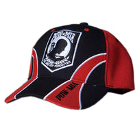 POW MIA Red/Black Guard Military Embroidered Ball Cap