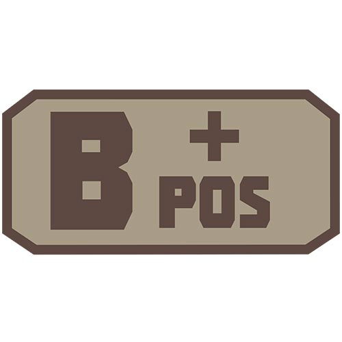 B POS (+) Embroidered Hook Back Patch