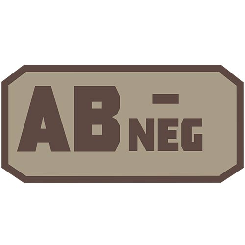 AB NEG (-) Embroidered Hook Back Patch