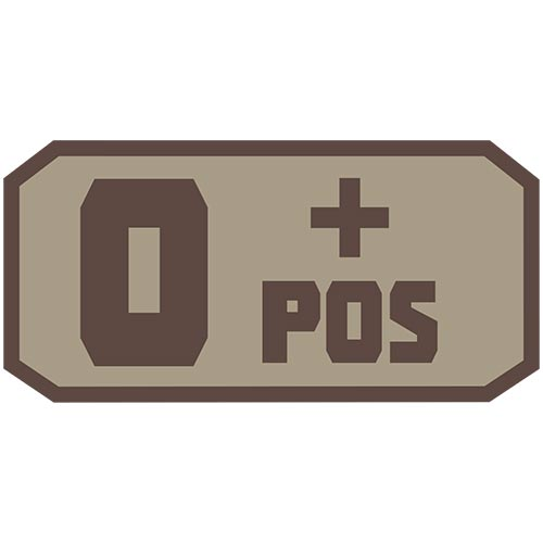 O POS (+) Embroidered Hook Back Patch