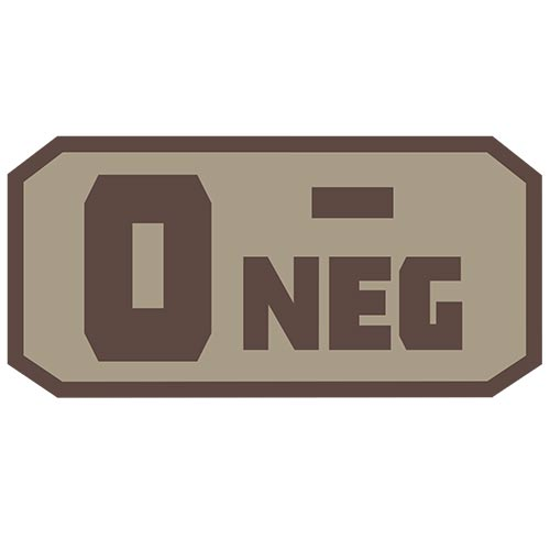 O NEG (-) Embroidered Hook Back Patch