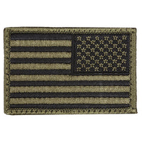 Right Facing Assaulting USA OD Green Flag 2 X 3 Patch - Star Spangled 1776