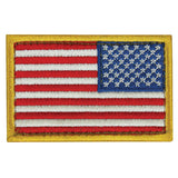 Right Facing Assaulting USA Flag 2 X 3 Patch - Star Spangled 1776