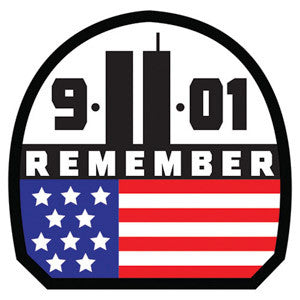 Remember 911 Embroidered Hook Back Patch - Star Spangled 1776