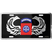 82nd Airborne 6 X 12 Metal Military Army License Plate