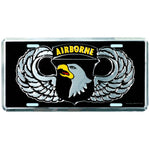 101st Airborne Division 6 X 12 Metal Military Army License Plate