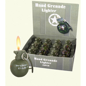 Hand Grenade Novelties Lighter with Sound Effects - Star Spangled 1776
