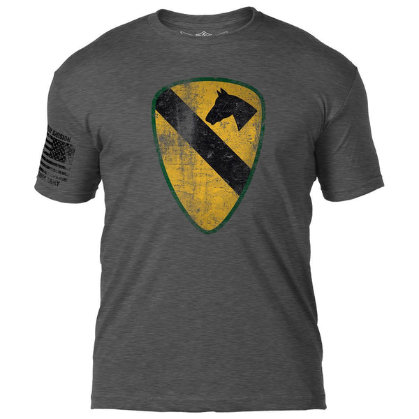 Army 1st Cavalry Distressed T-Shirt- 7.62 Design Army Tee Shirt
