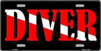 Diver Metal License Plate - Star Spangled LLC