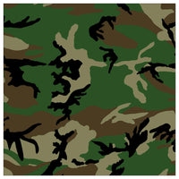 Woodland Camo Medium Weight Cotton Bandanna