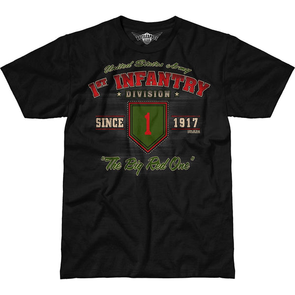 Army 1st Infantry Division Vintage 7.62 Design Battlespace Men's T-Shirt