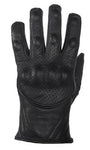 Men's Perforated Short Racing Gloves With Hard Knuckles
