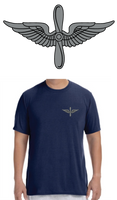 Army Aviation Insignia Deluxe Performance T-Shirt- Navy Blue - Star Spangled LLC