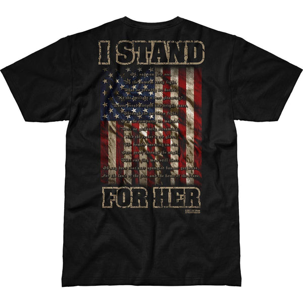 I Stand For Her T-Shirt- 7.62 Design Patriotic Tee Shirt Black