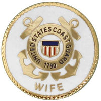 "U.S. Coast Guard Wife Round Lapel Pin 3/4"" - Star Spangled 1776"