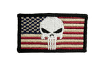 Red and Tan Punisher American Flag Patch - Star Spangled 1776