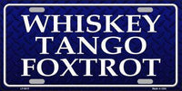 Whiskey Tango Foxtrot Metal Law Enforcement License Plate
