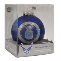 U.S. Air Force Glass Ball Military Ornament