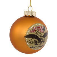 U.S. Army Gold Glass Ball Military Ornament