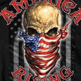 America Rising 100% Cotton Black T-Shirt - Star Spangled LLC