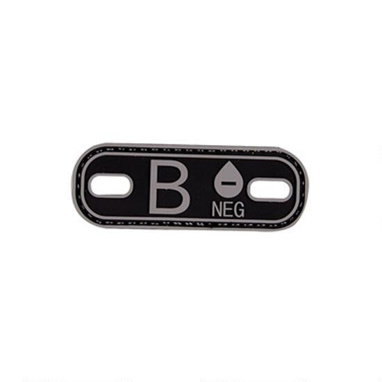 B- Blood Type SWAT Black PVC Patch
