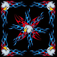 USA Eagle Medium Weight Cotton Bandanna - Star Spangled 1776