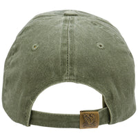 Veteran with American Flag Embroidered Military Baseball Cap- OD Green - Star Spangled LLC