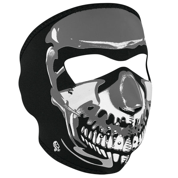 Chrome Skull Motorcycle Neoprene Full Face Mask
