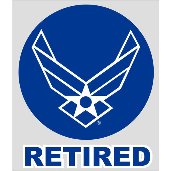Air Force Retired Military Window Decal