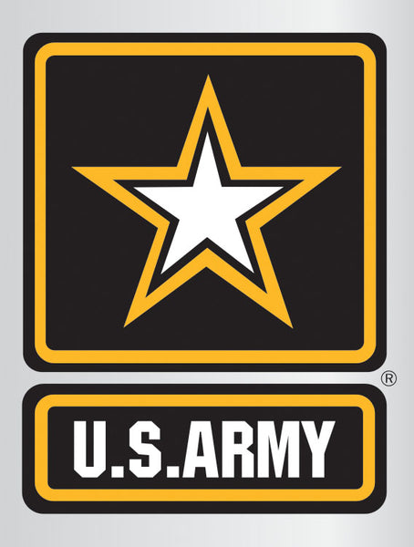 Army Star Logo Chrome Poly Decal - Star Spangled LLC