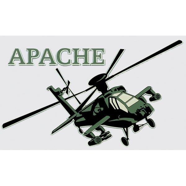 Apache (AH-64) Helicopter Decal - Star Spangled 1776