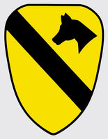 U.S. Army 1st Cavalry Division Shield Decal - Star Spangled 1776