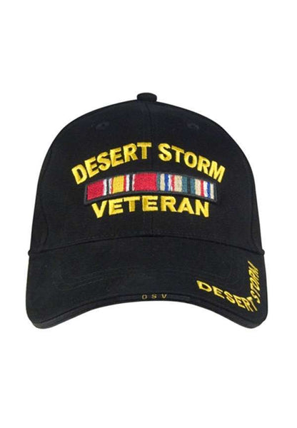 Desert Storm Deluxe Low Profile Military Baseball Cap - Star Spangled LLC