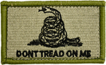 Dont Tread On Me Embroidered Hook Back Patch - Star Spangled 1776