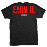 Earn It T-Shirt- Ranger Up Black Patriotic Tee Shirt - Star Spangled 1776