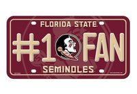 Florida State Seminoles #1 Fan Metal License Plate