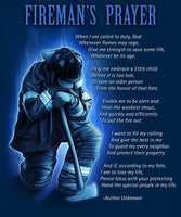 Fireman's Prayer 50 X 60 Fleece Throw Blanket - Star Spangled LLC
