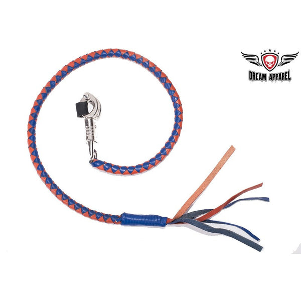 Motorcycle Get Back Whip- Blue and Orange - Star Spangled 1776